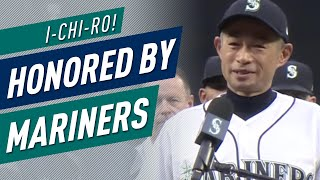 Ichiro honored by Mariners, gives speech to fans