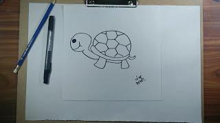 สอนวาดรูป   สอนวาดรูปการ์ตูนน่ารักๆ ง่ายๆ By พี่ฟ้า #รูปเต่า
