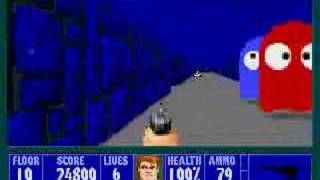 PC - Wolfenstein 3D - E3M10 (Pac-Man Level) 100% Video