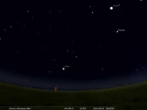 03.03.2012 Mars najbliżej Ziemi - opozycja planety