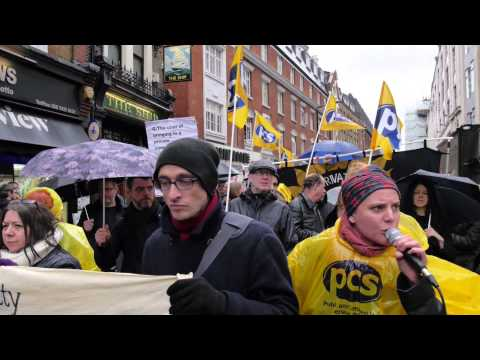 'Art as a Weapon' / National Gallery Strike against Privatisation - Drift Report