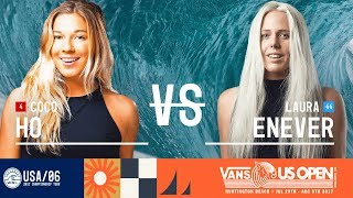 Coco Ho vs. Laura Enever - Round Two, Heat 6 - Vans US Open 2017 (W)