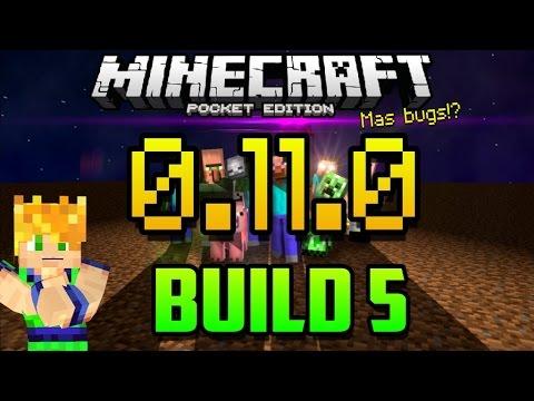 Build 5 - MAS BUGS - SKINS Y CRASHEOS -  Minecraft Pocket Edition 0.11.0 - Cambios - Descarga