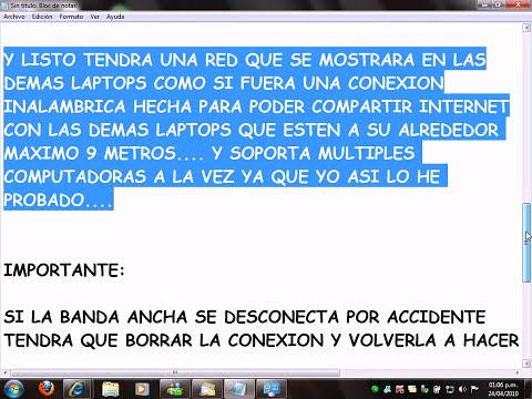 COMPARTIR INTERNET CON BANDA ANCHA DE TELCEL, MOVISTAR, IUSACELL