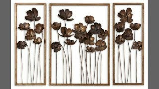 Diy metallic wall decor| wall hanging| room decor| diy wall decor| art my passion