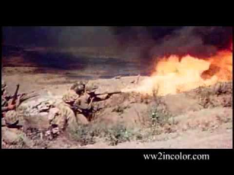 Flamethrower at Iwo Jima
