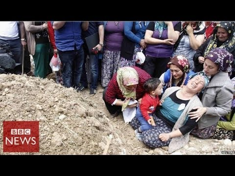 Turkey's worst mine disaster in 45 seconds - BBC News