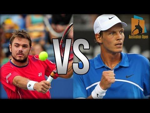 Stanislas Wawrinka Vs Tomas Berdych Australian Open 2014 HIGHLIGHTS