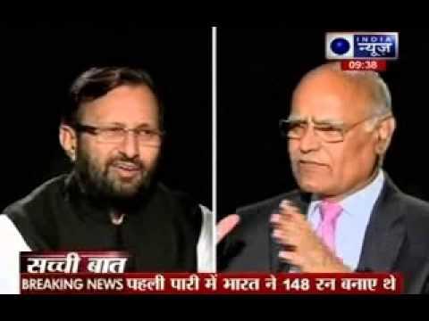 Sachchi Baat: Prabhu Chawla With Prakash Javadekar