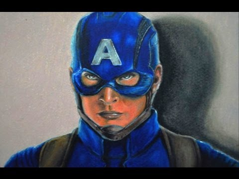CÓMO DIBUJAR AL CAPITÁN AMÉRICA - SOLDADO INVERNAL / HOW TO DRAW CAPTAIN AMERICA