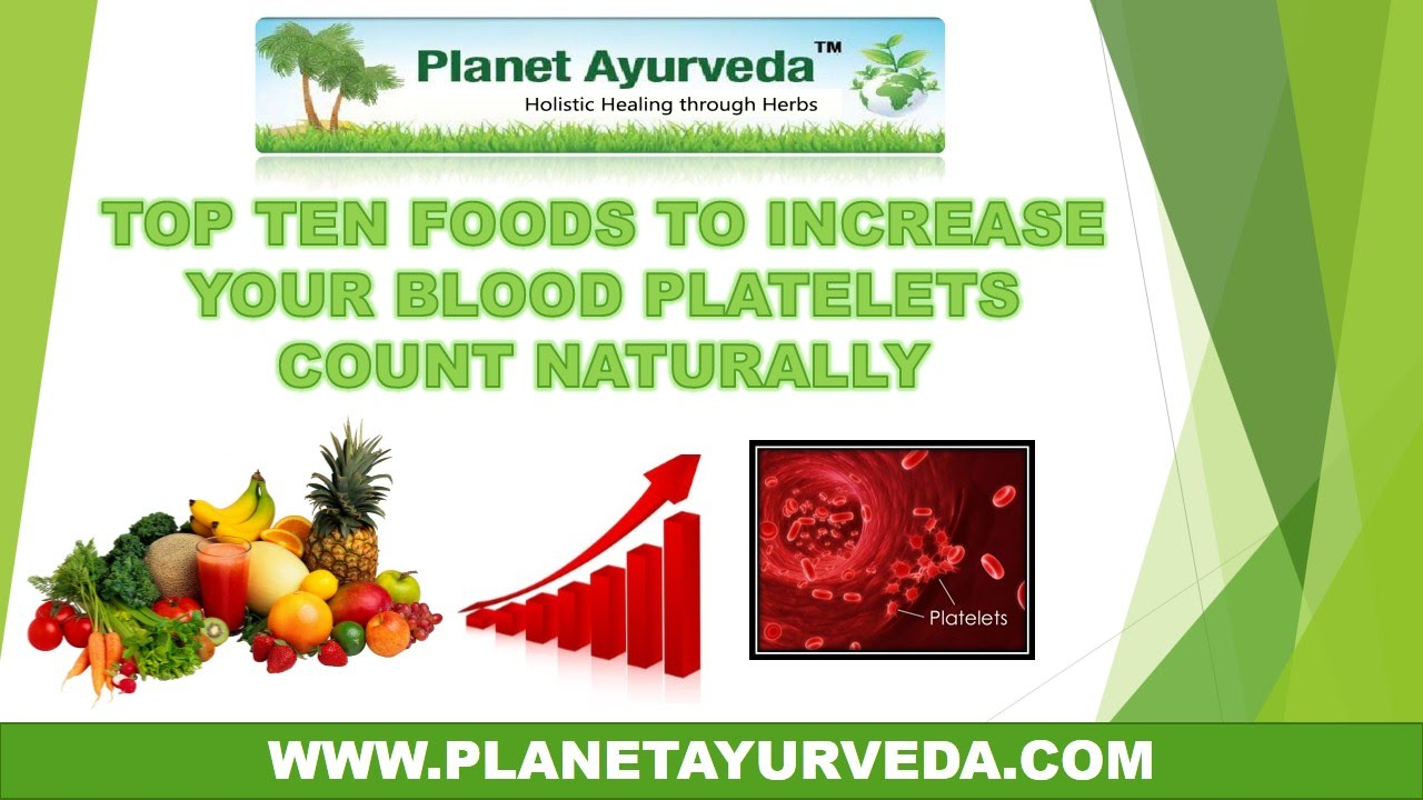 top 10 foods to increase your blood platelets count