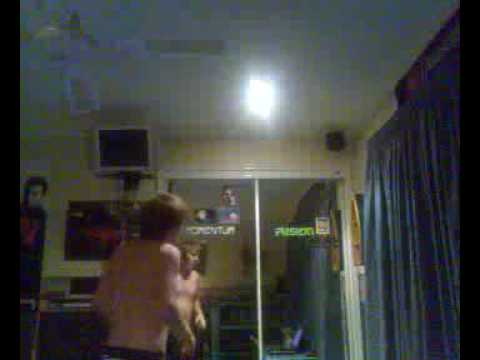Shadow Boxing! Topless and Hopless lol (mum walked in hahaha) Video