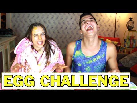 RUSSIAN ROULETTE EGG CHALLENGE | Wassabi and Olga Kay