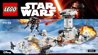 LEGO 75138 Hoth Attack Star Wars (Instruction Booklet)