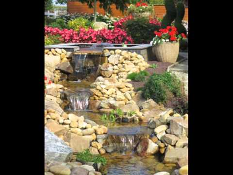 Amenagement d 39 un bassin naturel avec cascades d 39 eau www for Amenagement talus jardin