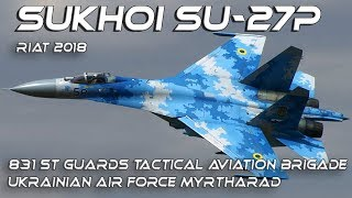 4K UHD Sukhoi Su-27P Flanker RIAT2018 Sublime Display !!!!