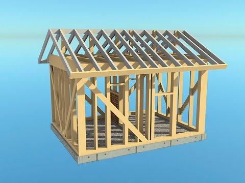 Банька из бруса - Банька из бруса 3х4 рабочий проект - 0