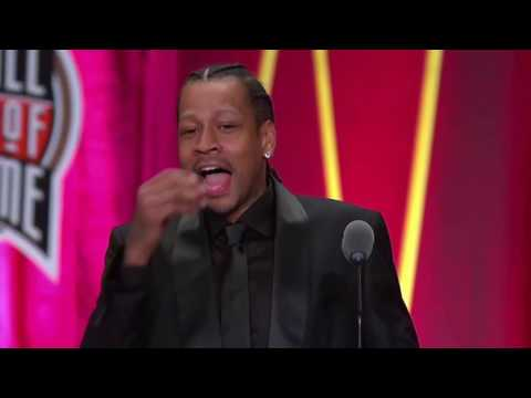 Allen Iverson thanks Shaq, Kobe and talks about Tyronn Lue in his Hall of Fame speech (2016)