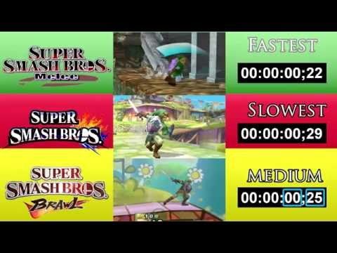 Smash Bros. Attack Speed Comparison - Wii U vs Melee vs Brawl