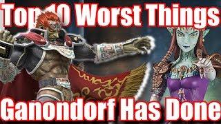Top 10 WORST Things Ganon / Ganondorf Has Ever Done