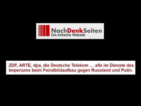 ZDF, ARTE, dpa, Deutsche Telekom: Feindbildaufbau gegen Russland und Putin (Nachdenkseiten)