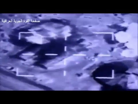 Iraqi Air Force F16 Bombs IED Factories in ISIS held Qaim, Anbar