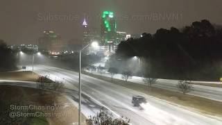 Raleigh, NC Snow storm overnight - 1/4/2018