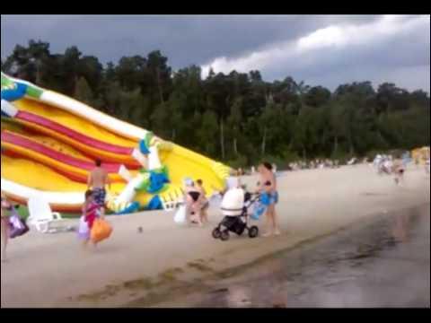 Air Castle blown away on beach (Katamari edit)