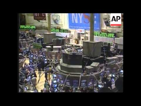 USA - New York stock exchange suffers worst week