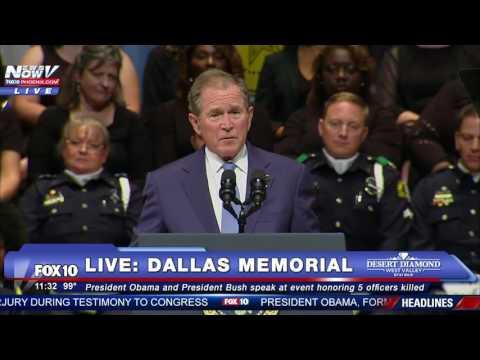 WATCH NOW: Former President George W. Bush Speaks at Dallas Shooting Memorial - FNN