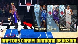 DIAMOND DEROZAN IS THIS NICE?! RAPTORS ARE DUNK GODS! NBA 2K18 MYTEAM SUPERMAX GAMEPLAY