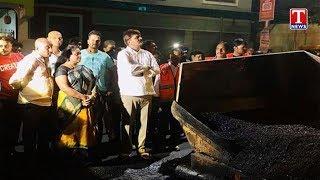 Mayor Bonthu Rammohan Inspects BT Road works at Begumpet  Telugu - netivaarthalu.com