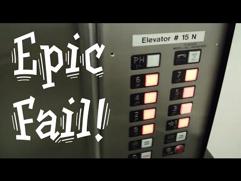 Epic OTIS fail. Stuck at Penthouse Steinberg elevators Video