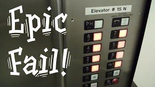 Epic elevator fail. Stuck at Penthouse Steinberg elevators Otis elevator