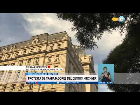Visión 7 - Protesta de trabajores del Centro Cultural Kirchner