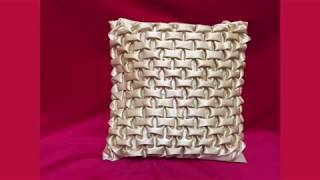 How to make a very beautiful cushion using Smocking (brick design) by Rose