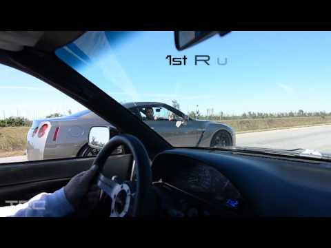 1JZ S13 240sx 530hp vs R35 GTR 585hp ROUND 2