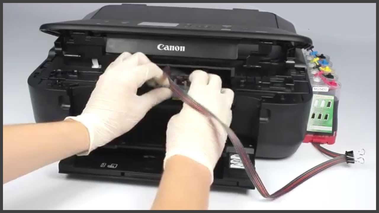 Как сделать чернила в принтере 234