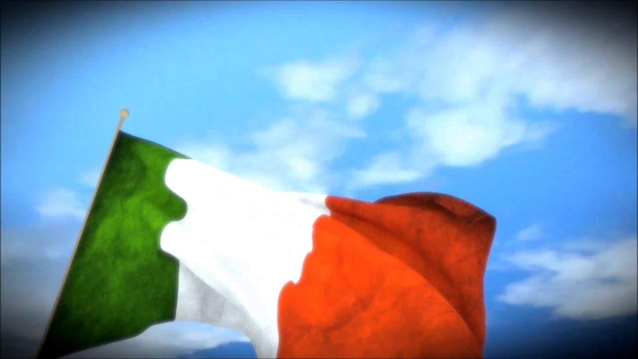Italian Flag Waving Drawing