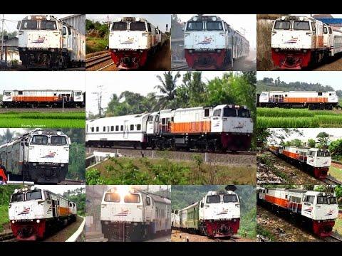 [kompilasi] Semboyan 35 Lokomotif CC 206 series - Indonesian Locomotive's Hornsound