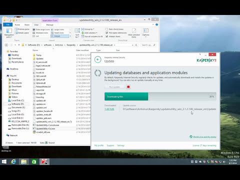 Update Kaspersky Antivirus and Internet Security 2015 Offline with update utility works 1000%