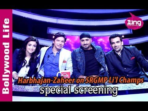 Harbhajan Singh, Zaheer Khan on Sa Re Ga Ma Pa Li'l Champs   Musical World Cup episode