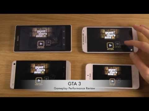 Samsung Galaxy S4 vs. HTC One vs. iPhone 5 vs. Sony Xperia Z - GTA 3 Gameplay Comparison