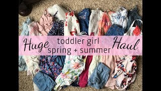 SPRING + SUMMER TODDLER GIRL HAUL 2018 | THRIFTED, ONCE UPON A CHILD, OLD NAVY | michaela scott