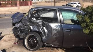 Two vehicle crash on Tomahawk Road in Apple Valley