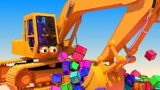 VIDS For KIDS In 3d HD Excavator Digger Henry At Work With Cubes AApV VideoMp4Mp3.Com