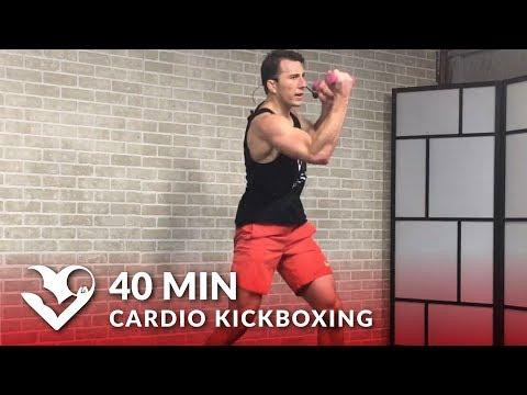 Cardio Kickboxing Workout to Torch Fat ?  40 Min Cardio Boxing Workout Class