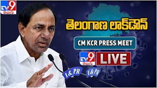 CM KCR Press Meet LIVE || Telangana Lockdown || CoronaVirus ( Covid-19 ) Alert - TV9
