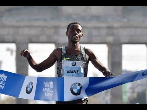 Ethiopian Kenenisa Bekele And Aberu Kebede Win The 2016 BMW Berlin Marathon