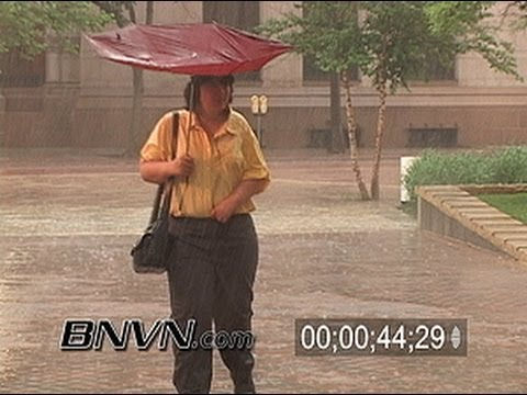 6/27/2005 Video of people caught out in heavy rain